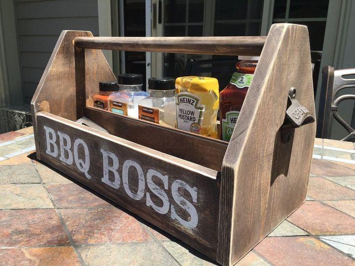 diy wood bbq caddy hometalk