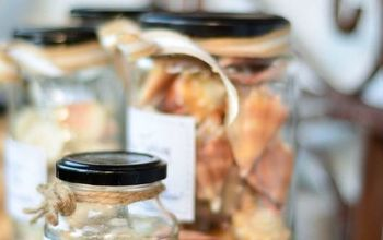 Apothecary Seashell Jars With Free Printable