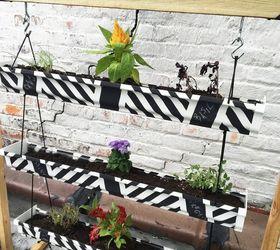 Vertical Herb Garden Planter From A Gutter, Chalk Paint, Chalkboard Paint,  Gardening,