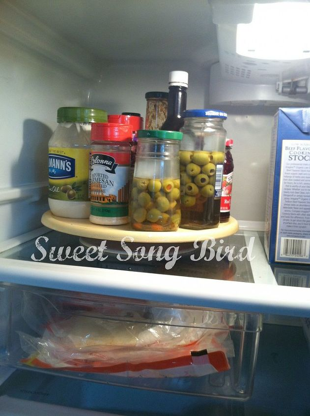s want an organized fridge try this today , appliances, organizing, Use Lazy Susans so nothing gets pushed back