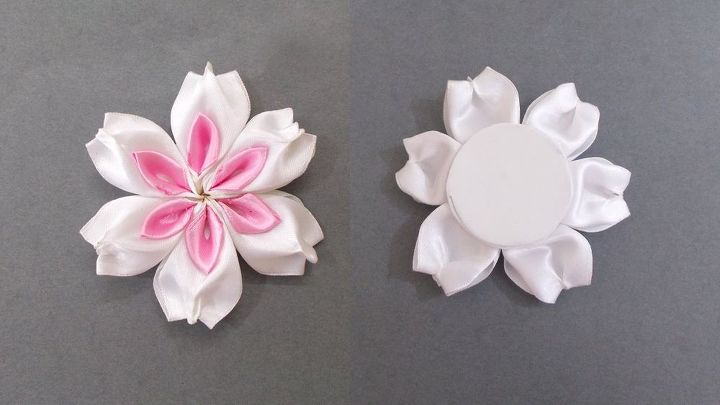 Kanzashi flower with beads how to make diy satin ribbon flower kanzashi flower with beads how to make diy satin ribbon flower crafts diy mightylinksfo