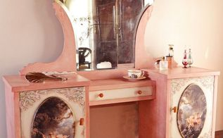a romantic vanity dresser, bedroom ideas, painted furniture, painting wood furniture, shabby chic