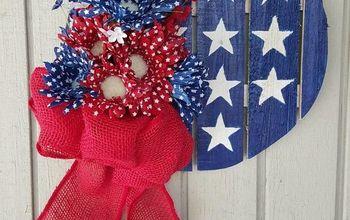 easy diy 4th of july themed door decoration, crafts, doors, patriotic decor ideas, seasonal holiday decor