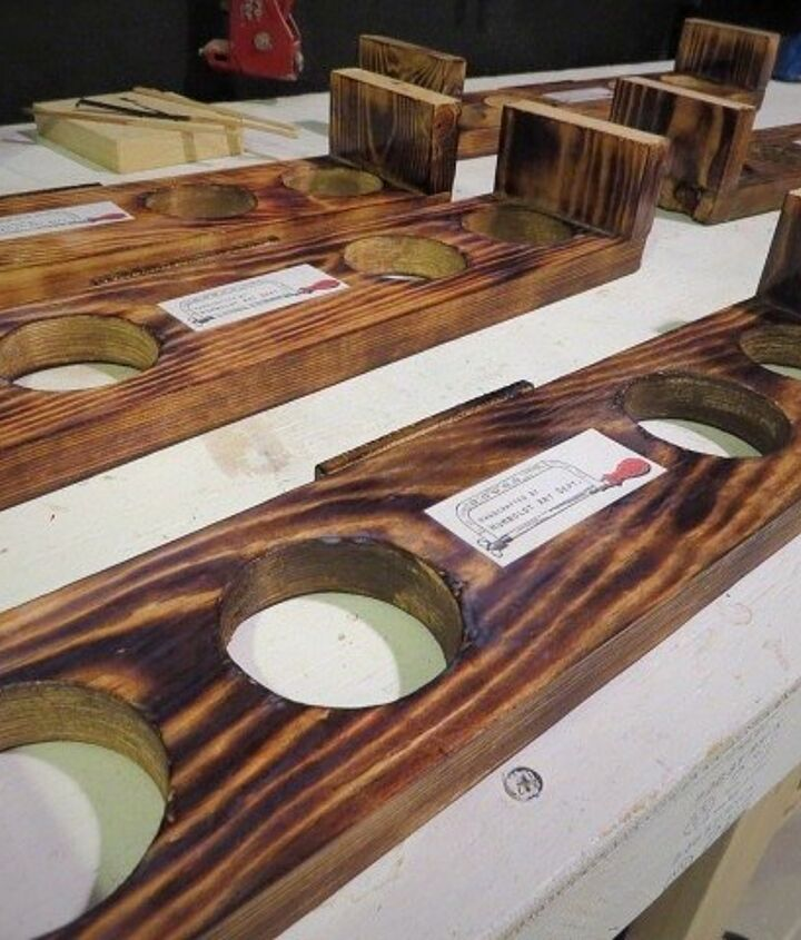 cool burnt beer flights, crafts, diy, home decor, tools, woodworking projects