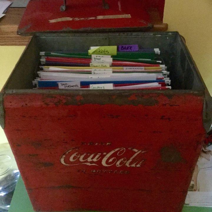 cooler repurposed, organizing, repurposing upcycling, storage ideas