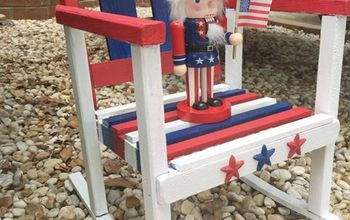 stars and stripes rocker, crafts, painted furniture, patriotic decor ideas, seasonal holiday decor