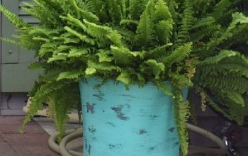 DIY Large Planters... From Trash Cans!
