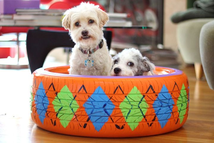 Upcycled Rubber Tire Pet Bed Hometalk