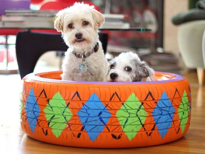 Tire Dog Bed Easy Craft Ideas