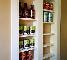 Pantry Between The Studs, Diy, Kitchen Design, Organizing, Shelving Ideas,  Storage