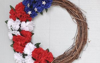 red white and blue patriotic wreath for under 5 , crafts, patriotic decor ideas, seasonal holiday decor, wreaths