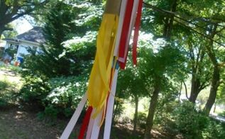 patriotic wind chime or wind socks, crafts, outdoor living, seasonal holiday decor