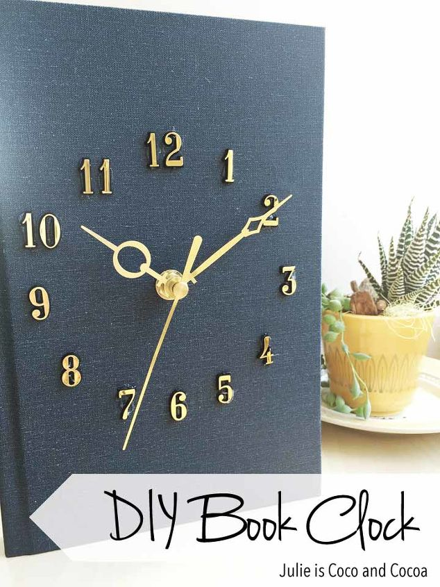 hardcover book clock diy, crafts, home decor, repurposing upcycling, wall decor