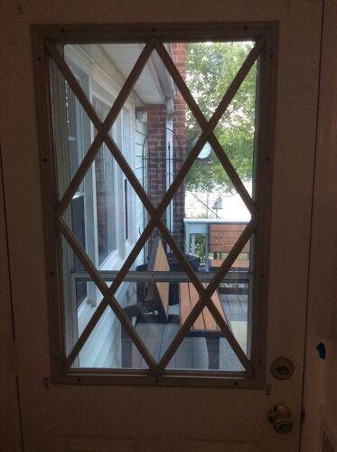Removing grills from a steel exterior door | Hometalk