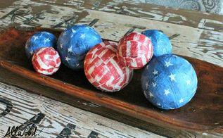4th of july table centerpiece, crafts, decoupage, patriotic decor ideas, seasonal holiday decor