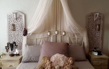 Re-purpose a Room Divider Into a Bedside Feature