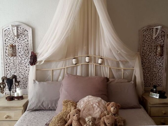 re purpose a room divider into a bedside feature, doors, how to, painted furniture, repurposing upcycling, wall decor