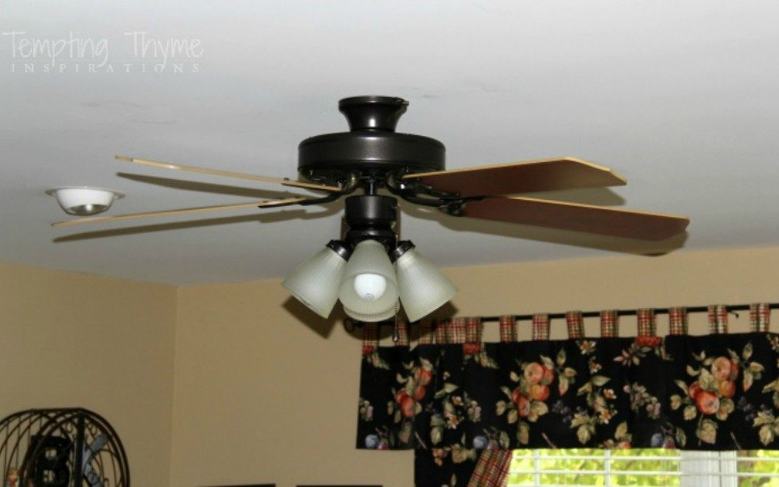 s 13 ways to upgrade your boring ceiling fan on a budget, appliances, wall decor, Turn a brass base into a bronze beauty