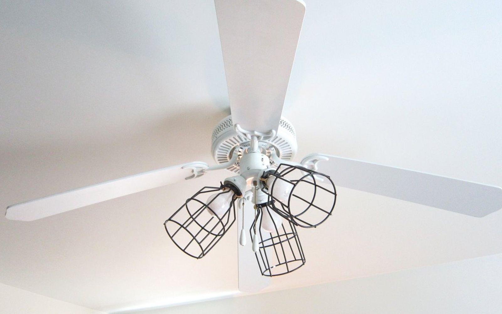 s 13 ways to upgrade your boring ceiling fan on a budget, appliances, wall decor, Update your lamp shades to a trendier style