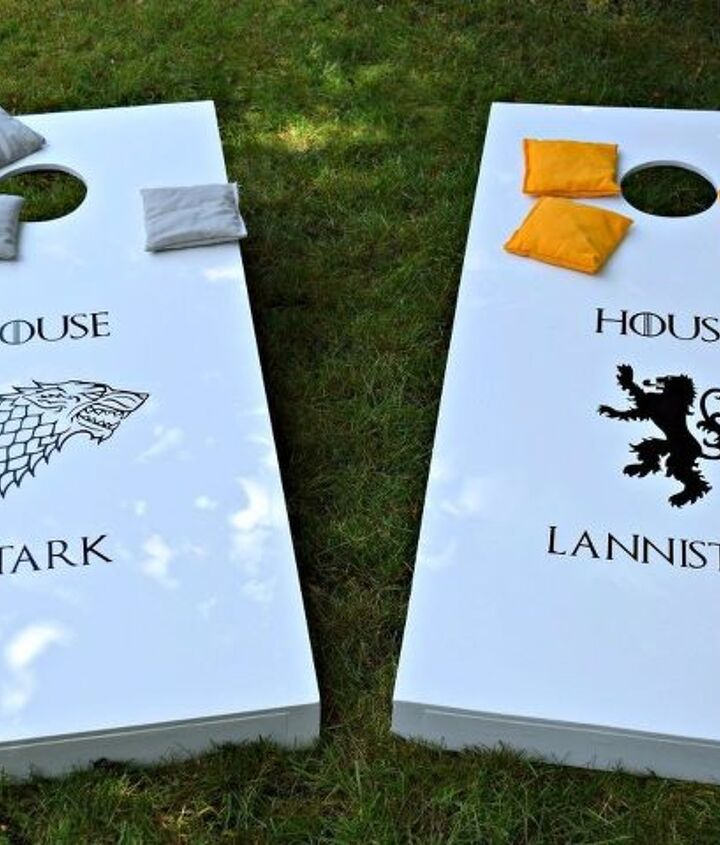 diy game of thrones cornhole boards, how to, woodworking projects
