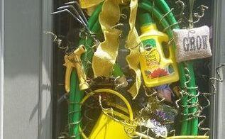 garden hose wreath, crafts, wreaths