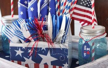 Re-Purposed Drawer Into Patriotic Tray