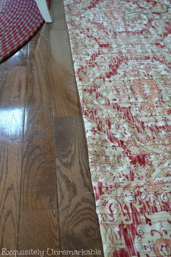 hide that mess with a skirt, crafts, repurposing upcycling, reupholster