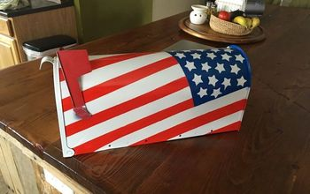 Obsessed With Four of July This Year! Flag Mailbox