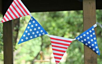 Patriotic Bunting Inspired by Pottery Barn