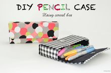 diy pencil case from cereal box, crafts, diy, reupholster