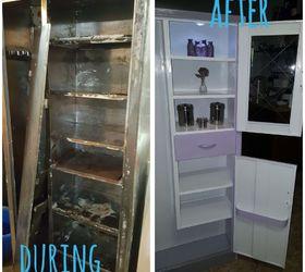 Vintage Metal Utility/Pantry Cabinet Gets Madeover | Hometalk