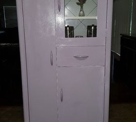 Vintage Metal Utility Pantry Cabinet Gets Madeover, Closet, Kitchen Cabinets,  Painted Furniture,
