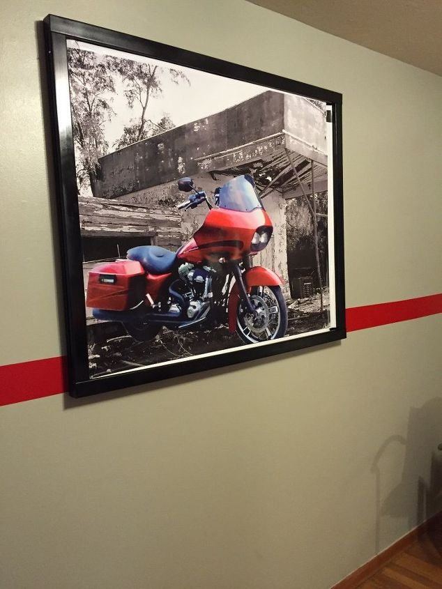 """48"""" x 40"""" poster on the large wall"""