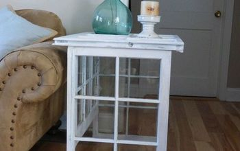 Side Table Made From Old Windows