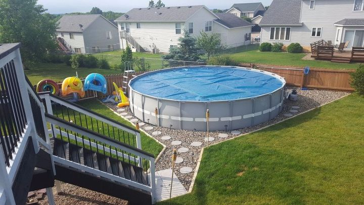 s wait they did what in their backyard , outdoor furniture, outdoor living, Get a mini paradise with an above ground pool