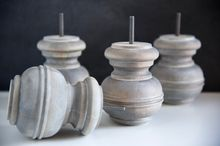 create that weathered wood look , crafts, how to, painted furniture, painting, Weathered Wood Furniture Feet