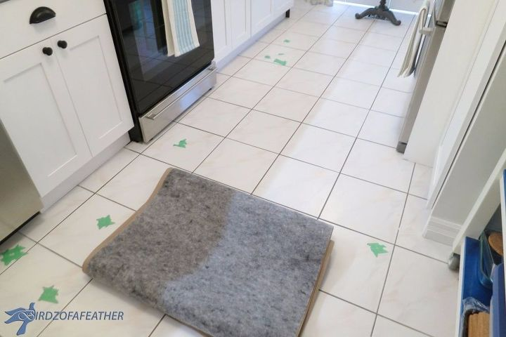 s 11 updates to try yourself before calling a home repair man, home decor, home maintenance repairs, Fill in chipped floor tiles
