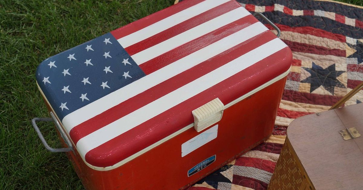 flag craft ideas painting an cooler like an american flag hometalk 2024