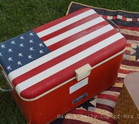 Painting An Old Cooler Like An American Flag, Crafts, Painting, Patriotic  Decor Ideas