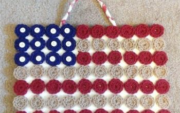 Crocheted YoYo Americana Flag