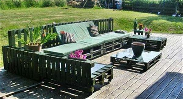 Diy Black Pallet Patio Furniture Ideas Painted