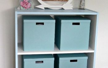 Easy Chalk Paint Upcycle Project - Old Office Bookcase Makeover