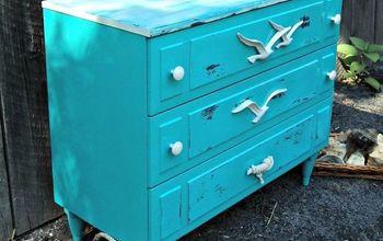 thrift shop dresser into a coastal makeover, home decor, painted furniture