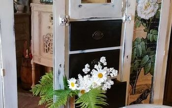 chifforobe refinished, chalk paint, painted furniture