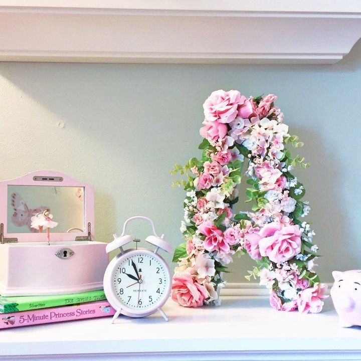 diy floral monogram, bedroom ideas, crafts, home decor, how to