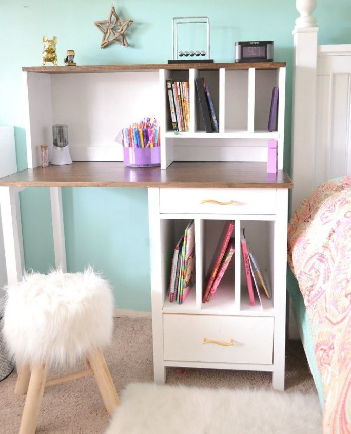 Gorgeous Diy Desk With Hutch Home Office How To Painted Furniture