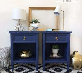 Bright Cheery Modern Nightstands, Bedroom Ideas, Painted Furniture