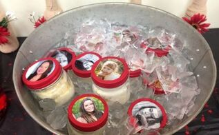 graduation or wedding idea mason jar photo, crafts, mason jars