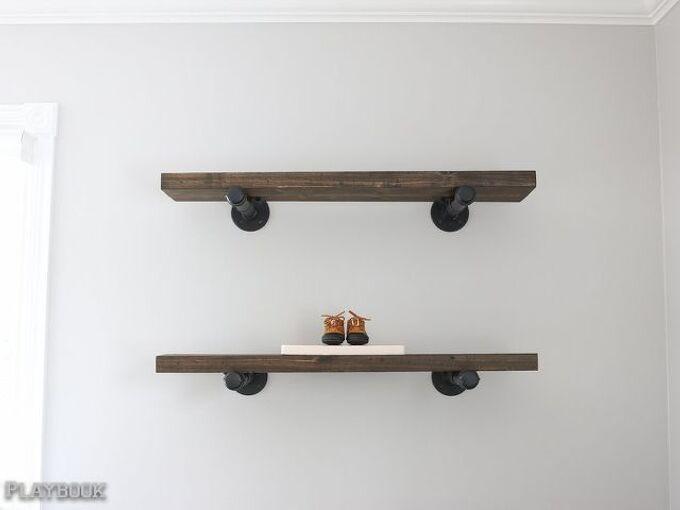 diy industrial pipe shelves, diy, shelving ideas