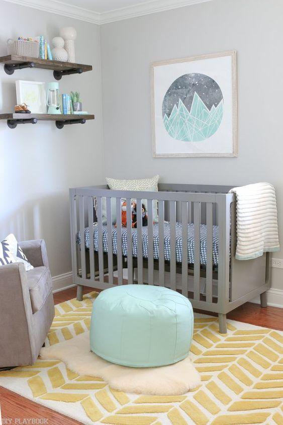 gender neutral nursery reveal, bedroom ideas, home decor